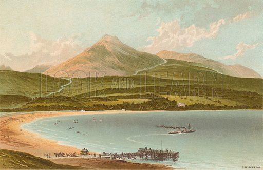 Brodick Bay & Goatfell. Illustration for Souvenir of Scotland (Nelson, 1889).