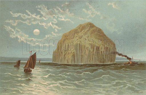 Ailsa Craig. Illustration for Souvenir of Scotland (Nelson, 1889).
