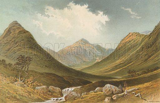 Glen Sannox - Arran. Illustration for Souvenir of Scotland (Nelson, 1889).