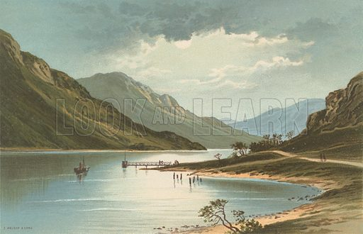 Loch Eck. Illustration for Souvenir of Scotland (Nelson, 1889).