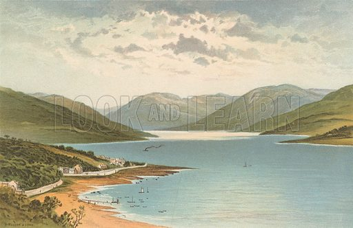 Loch Striven. Illustration for Souvenir of Scotland (Nelson, 1889).