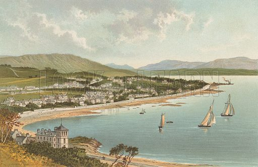 Dunoon. Illustration for Souvenir of Scotland (Nelson, 1889).