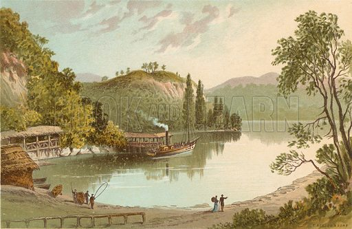 The Boat House – Loch Katrine. Illustration for Souvenir of Scotland (Nelson, 1889).