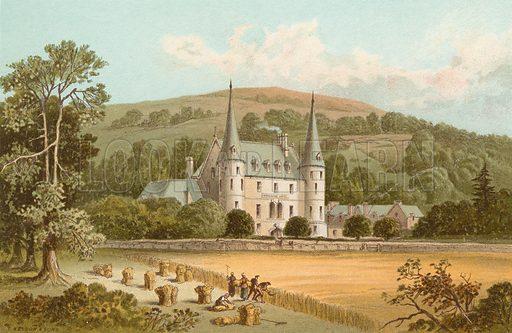 The Trosachs Hotel. Illustration for Souvenir of Scotland (Nelson, 1889).