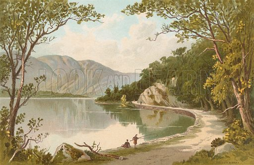 The Path by the Lake – Loch Katrine. Illustration for Souvenir of Scotland (Nelson, 1889).