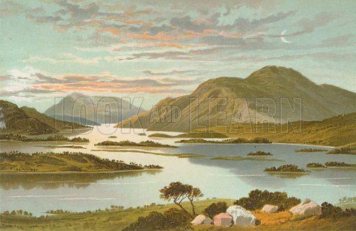 Loch Lomond from Mount Misery. Illustration for Souvenir of Scotland (Nelson, 1889).