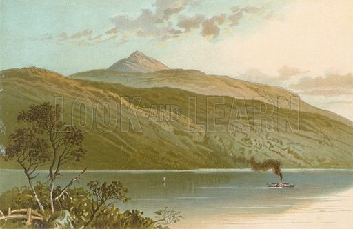 Peak of Ben Lomond from Tarbet. Illustration for Souvenir of Scotland (Nelson, 1889).