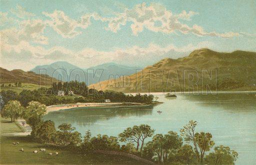 Loch Lomond at Tarbet. Illustration for Souvenir of Scotland (Nelson, 1889).