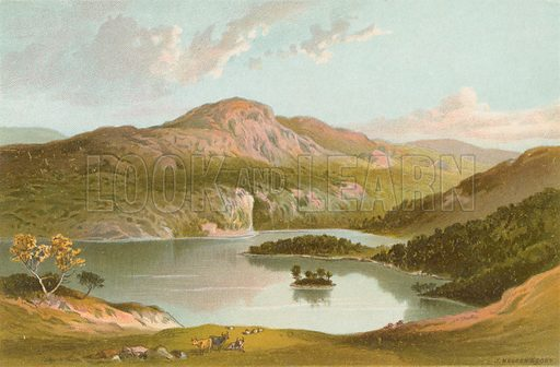 Ben A'An from the Slope of Ben Venue. Illustration for Souvenir of Scotland (Nelson, 1889).