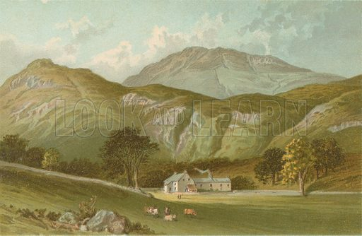 The Ascent of Ben Lomond from Rowardennan. Illustration for Souvenir of Scotland (Nelson, 1889).