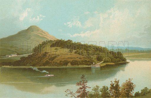 Pass of Balmaha - Loch Lomond. Illustration for Souvenir of Scotland (Nelson, 1889).