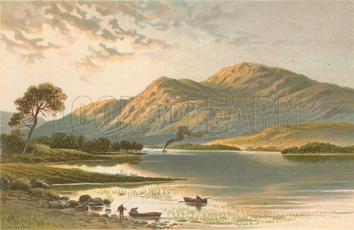 Ben Lomond from Luss. Illustration for Souvenir of Scotland (Nelson, 1889).