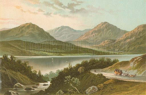 Loch Lomond from the Road to Stronaclacher. Illustration for Souvenir of Scotland (Nelson, 1889).