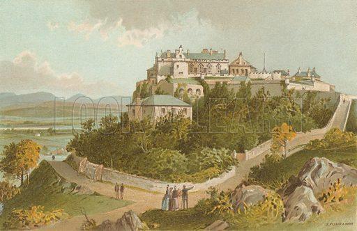 Stirling Castle. Illustration for Souvenir of Scotland (Nelson, 1889).