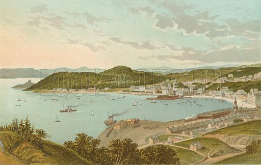 Oban. Illustration for Souvenir of Scotland (Nelson, 1889).