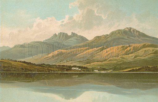 Tarbet and the Cobbler – Loch Lomond. Illustration for Souvenir of Scotland (Nelson, 1889).