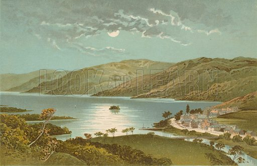 Loch Earn and St Fillans. Illustration for Souvenir of Scotland (Nelson, 1889).
