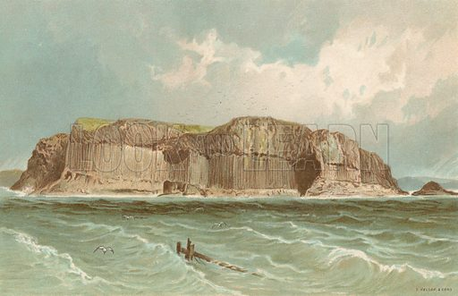 Staffa. Illustration for Souvenir of Scotland (Nelson, 1889).