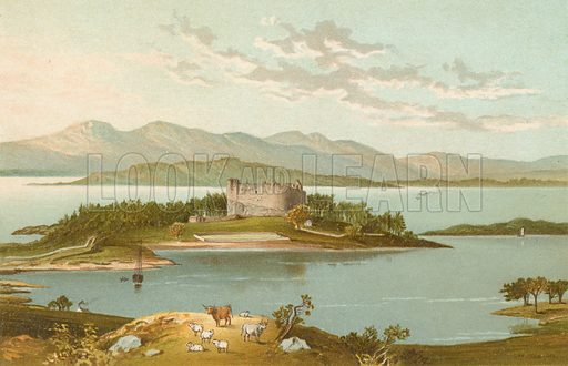 Dunstaffnage Castle & Loch Etive. Illustration for Souvenir of Scotland (Nelson, 1889).