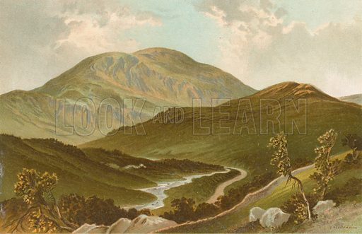 The Pass of Leny. Illustration for Souvenir of Scotland (Nelson, 1889).