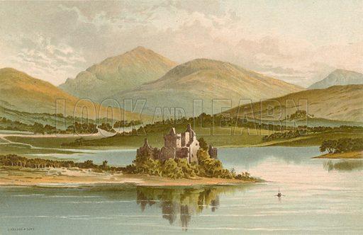 Kilchurn Castle – Loch Awe. Illustration for Souvenir of Scotland (Nelson, 1889).