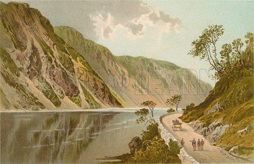 The Pass of Brander. Illustration for Souvenir of Scotland (Nelson, 1889).