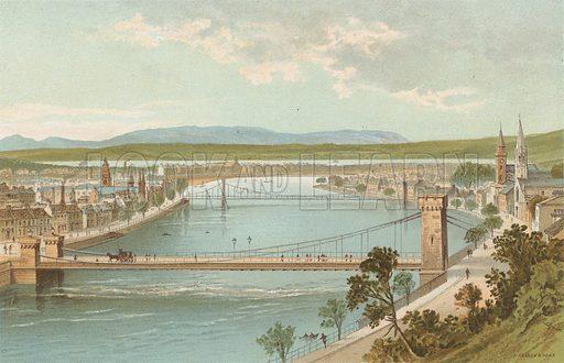 Inverness. Illustration for Souvenir of Scotland (Nelson, 1889).