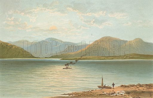 The Ardgower Mountains from Ballachulish. Illustration for Souvenir of Scotland (Nelson, 1889).