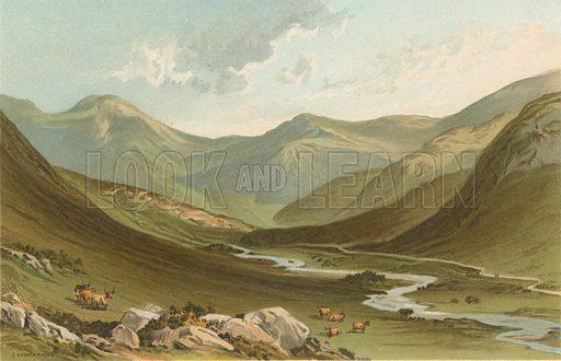 Glen Nevis. Illustration for Souvenir of Scotland (Nelson, 1889).