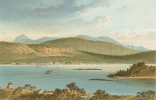 Loch Eil and Fort William. Illustration for Souvenir of Scotland (Nelson, 1889).
