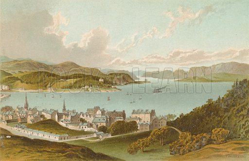 Oban Bay & Sound of Kerrera. Illustration for Souvenir of Scotland (Nelson, 1889).