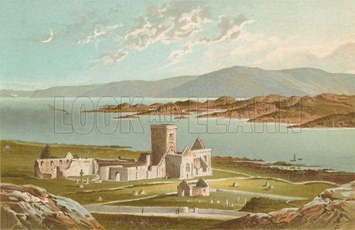 Iona. Illustration for Souvenir of Scotland (Nelson, 1889).