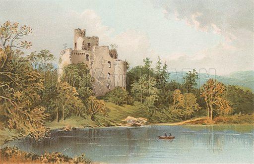 Invergarry Castle - Loch Oich. Illustration for Souvenir of Scotland (Nelson, 1889).