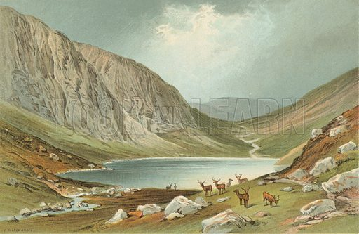 Dhu Loch - Loch-Na-Gar. Illustration for Souvenir of Scotland (Nelson, 1889).