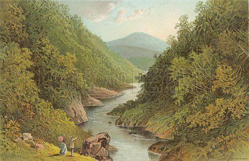 The Pass of Killiecrankie. Illustration for Souvenir of Scotland (Nelson, 1889).
