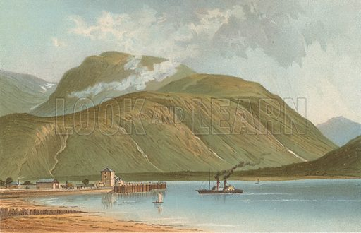 Ben Nevis, from Corpach. Illustration for Souvenir of Scotland (Nelson, 1889).