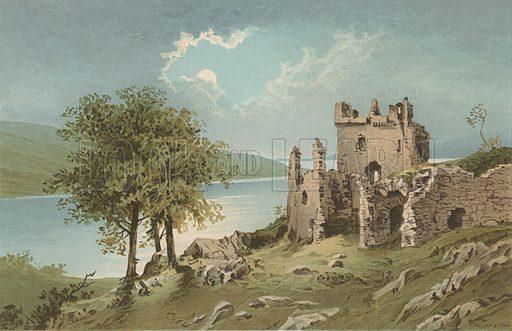 Urquhart Castle – Loch Ness. Illustration for Souvenir of Scotland (Nelson, 1889).