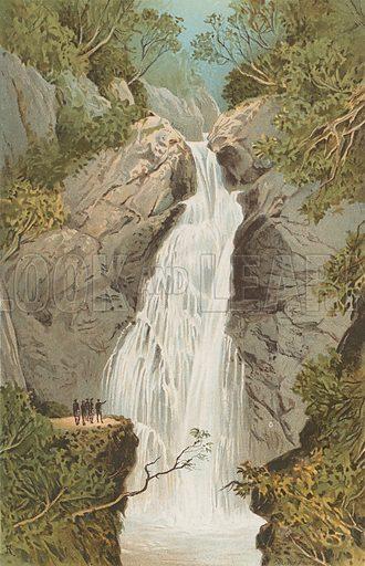 Fall of Foyers. Illustration for Souvenir of Scotland (Nelson, 1889).