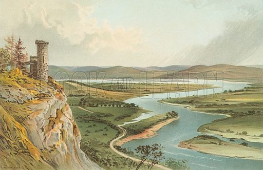 Valley of the Tay – From Kinnoul Hill. Illustration for Souvenir of Scotland (Nelson, 1889).