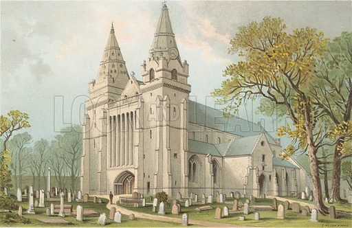 Aberdeen Cathedral. Illustration for Souvenir of Scotland (Nelson, 1889).