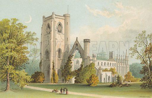 Dunkeld Cathedral. Illustration for Souvenir of Scotland (Nelson, 1889).