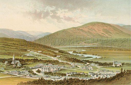 Castleton of Braemar. Illustration for Souvenir of Scotland (Nelson, 1889).
