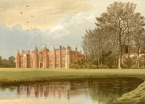 Hengrave Hall. Illustration for Pictureque Views of Seats by FO Morris (William Mackenzie, c 1880).