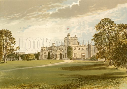 Moreton Hall. Illustration for Pictureque Views of Seats by FO Morris (William Mackenzie, c 1880).