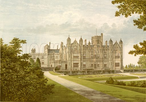 Merevale Hall. Illustration for Pictureque Views of Seats by F O Morris (William Mackenzie, c 1880).