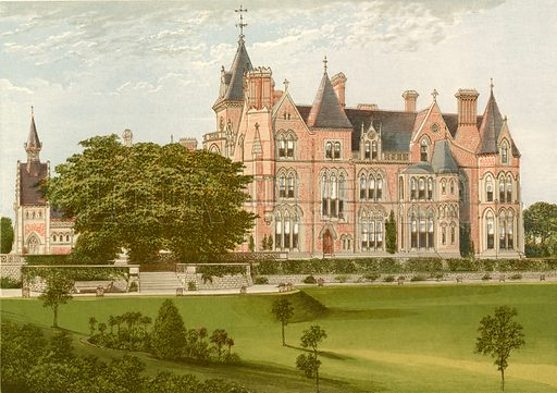 Bestwood Lodge. Illustration for Pictureque Views of Seats by FO Morris (William Mackenzie, c 1880).