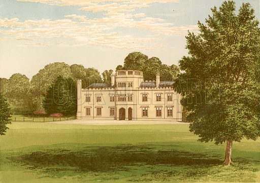 Wolseley Hall. Illustration for Pictureque Views of Seats by F O Morris (William Mackenzie, c 1880).