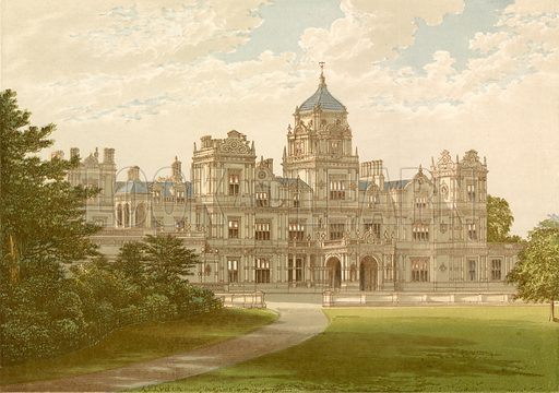Westonrirt House. Illustration for Pictureque Views of Seats by F O Morris (William Mackenzie, c 1880).