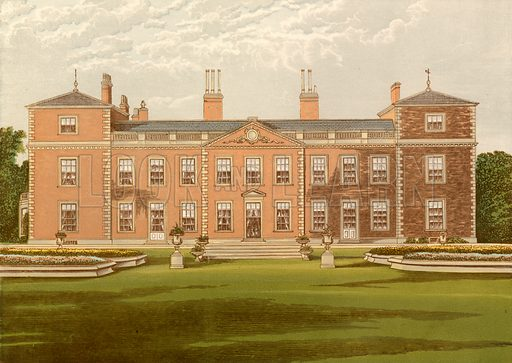 Euston Hall. Illustration for Pictureque Views of Seats by FO Morris (William Mackenzie, c 1880).