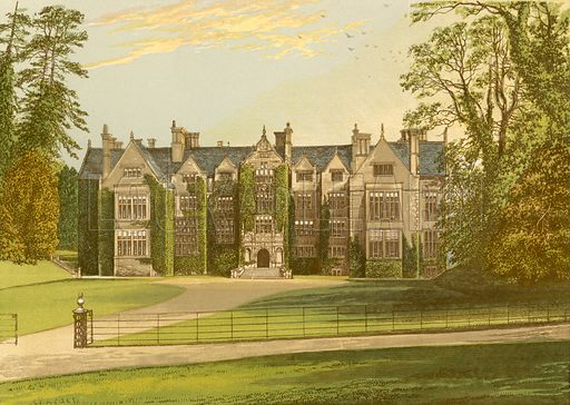 Wroxton Abbey. Illustration for Pictureque Views of Seats by FO Morris (William Mackenzie, c 1880).
